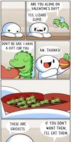 Lizard Cupid by theodd1soutcomic