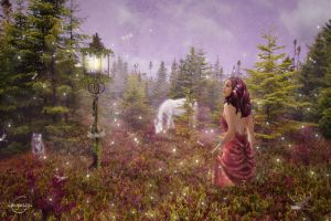 Purple hued meadows by CassiopeiaArt