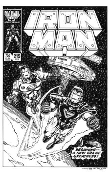 Iron Man #215 Cover Recreation by dalgoda7