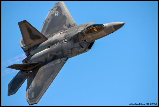 Planes of Fame F-22 Raptor by AirshowDave