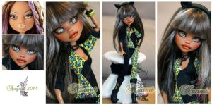MH Clawdeen repaint #9 ~Naomi~ by RogueLively
