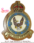 Handmade RAF Eagle Squadron 71 Medal Box Lid Front by snazzie-designz