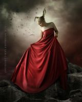 Lady in red by CindysArt