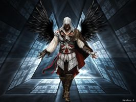 Ezio With Dark Wings by ShiNoRawr
