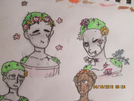 Headshots and flowers by Ponpoii