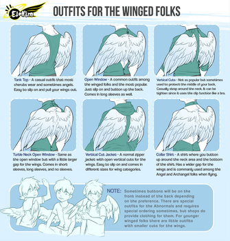 [Elohim] Outfits for the Winged Folks by Yobot