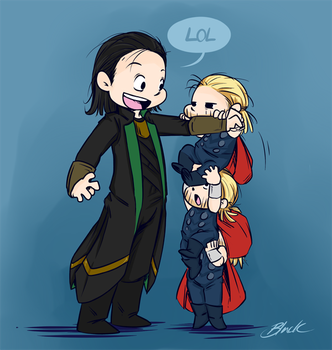 Loki and Thor - Reach great heights by caycowa