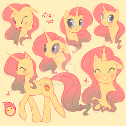 MLP OC Reference Sheet by Cindacry