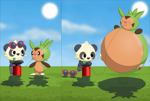 Pancham and Chespin Inflated comic part 1