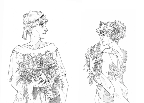 - Bouquets WIP - by HennaFaunway