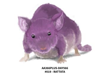 Aa366plus 2015-010-06 Day566 No-019 Rattata by AA366PLUS