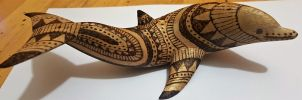 pyrography dolphin by rainbow-falls
