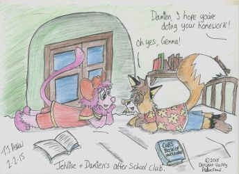Damien and Jehlise's After School Club by Space-Gypsy-Art