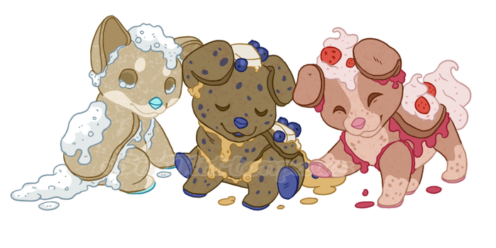 Puppy Pancakes by PixelRaccoon