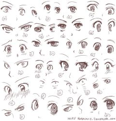 Anime eyes II by Harukarix3