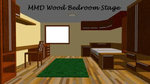 MMD Wood Bedroom Stage ~converted in sketchup~ by xXFrenchToastXx