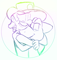 2am Doodle Because Hugs Are The Best At Night by LuigiYoshi2210