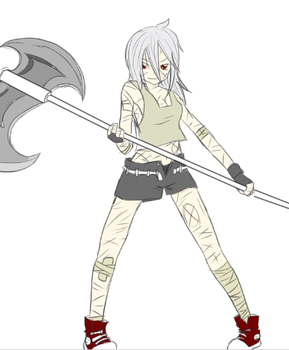 Shiro and her axe by ShiroShototsu