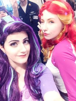 Sarahndipity as Starlight, Bloo as Sunset Shimmer by sarahndipitycosplay