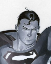 Classic Superman close up by ChristopherStevens
