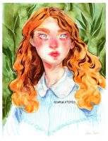 August- Watercolor Painting by sarucatepes