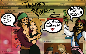 Thanks for the 3000 by wolf-pirate55