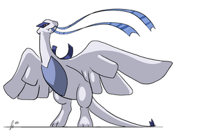 Lugia with Ribbon by jaclynonacloud