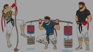 Street Fighter V - CrossFit Ryu by JCLF88