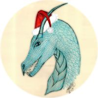 Santa Dragon by KenshinKyo
