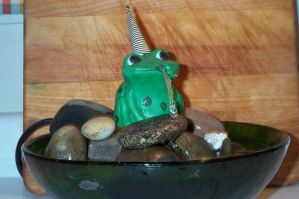 frog fountain by moodywoods