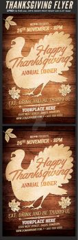 Thanksgiving Flyer Template by Hotpindesigns