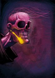 pink skull by EdwardDelandreArt