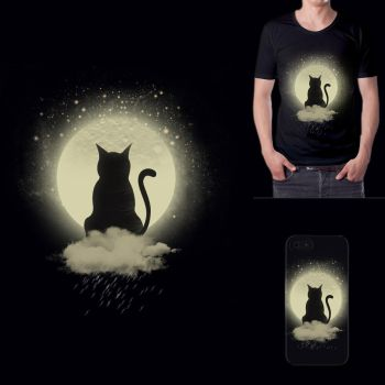 Cozy Cat Tshirt by kaya205