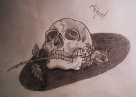Skull and Rose by MIKEL01