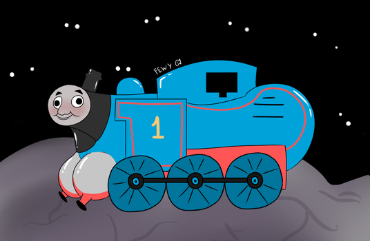 Thomas in the Abyss with unusual body proportion by FewyFish