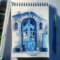 Instaart - Blue door by Candra