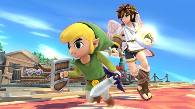 Pit and Toon Link by user15432