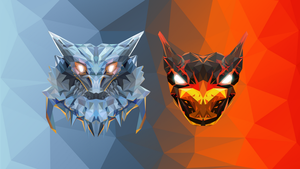 Jakiro Dota 2 Low Poly Art by giftmones