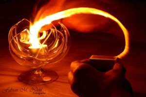 Lighting a candle by Optionator