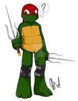 Those are called Sais, Raph by Inked-Alpha