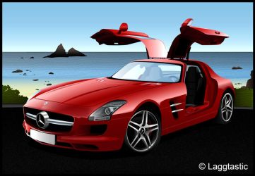 Mercedes SLS Vector FINISHED by Laggtastic