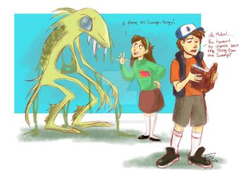 Mabel, have you seen the Thing from the Swamp? by animegirl43