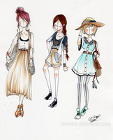 Relaxation and Tea Outfits by KimNipp