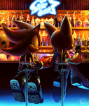 Rouge and Shadow   In a bar by raseinn