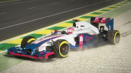 Project Lynx Car and Lily-Lotus Helmet F1 2012 Mod by BayuBaron