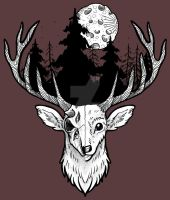 Life and Death 2 - Deer by weirdiefox