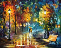 Soul Of The Rain by Leonid Afremov by Leonidafremov
