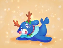 A wild reindeer Popplio appears!  by Hynael