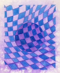 blue and purple water droplet by shadowofthedragon