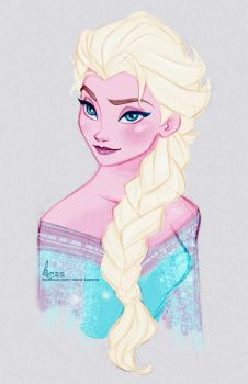 Disney's FROZEN - Queen Elsa Fast Colour Sketch by davidkawena